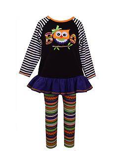 Bonnie Jean® Owl Boo Halloween Dress and Legging 2-Piece Set Toddler Girls