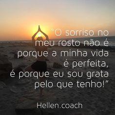 #regram @hellen.coach O grande segredo para ser feliz é olhar com amor para o que você é e o que você tem! Busque coisas melhores sempre, mas nunca se esqueça de agradecer por tudo que a vida já te deu! Nunca se esqueça que você está aqui por um... A Guy Like You, Unrequited Love, What You See, Tai Chi, Good Vibes, Texts, I Am Awesome, Coaching, Positivity