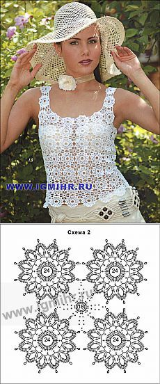 Wow Crochet Top With Everything You Need Diy - maallure Débardeurs Au Crochet, Gilet Crochet, Crochet Patron, Crochet Girls, Crochet Jacket, Crochet Diagram, Crochet Woman, Irish Crochet, Crochet Doilies