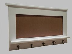 White Entry Organizer Wall Mirror Made With By Neilsonwoodworks High