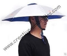Hat fishing umbrellas,UV protecting,ajustable sizes and round ribs,65cm diameter outdoor product,suitable for sun&rainy day
