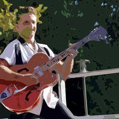 The Extraordinary Country Singer : modern or abstract painting  : Ducky-Jim-Trio  03. (c)((t) with le panasonic fz 1000  285.000 photos by Olavia Olao - Okaio Créations 2014
