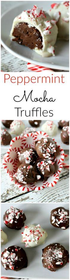 Peppermint Mocha Truffles - it's like the Starbuck drink in a dessert