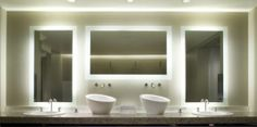 Bring more light into your Bathroom through your mirror! These illuminating mirrors eliminate the need for extra light fixtures. They save space and are often remote controlled so no more fumbling for the light switch!