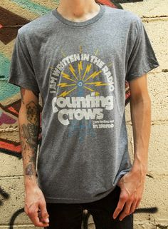 Counting Crows Official Online Store - Radio Tower Grey Men s SS Tee  Counting Crows d9823190f85ed