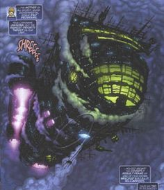 "An LMD controlled Helicarrier from ""Livewires,"" a Marvel miniseries."