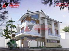 Thiết kế nhà mặt tiền 7m 3 tầng mái thái phong cách hiện đại