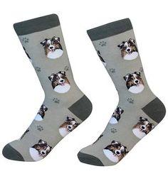 Australian Shepherd Dog Breed Socks Unisex Sock Daddy by E&S Pets Dog Socks, Crew Socks, Australian Shepherd Breeders, Body Sock, Novelty Socks, Dog Breeds, Fit Women, Unisex, Pets