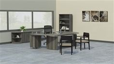 Gray Steel Laminate 7 Piece Medina Executive Furniture Set by Mayline - $1944.00 at OfficeAnything.com