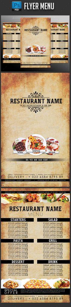 Elegant Restaurant Menu Flyer Menu