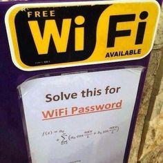 ¿Quieres la clave WiFi? ¡Resuelve esto!