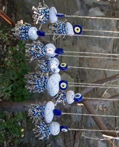 Nazar boncuk Greek Blue, Turkish Eye, Greek Evil Eye, Evil Eye Jewelry, Hamsa, Stone Painting, Jewelry Supplies, Art For Kids, Something To Do