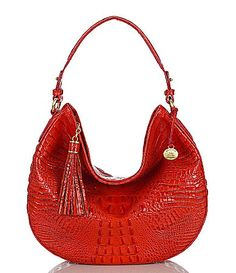 Brahmin Melbourne Collection Kathleen Hobo Bag #Dillards.  Saddle is the color of choice for this version.