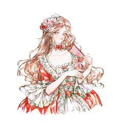 Cute Anime Pics, Anime Girl Cute, Kawaii Anime Girl, Princess Ball Gowns, Princess Art, Vestidos Anime, Royal Art, Anime Dress, Beautiful Fantasy Art
