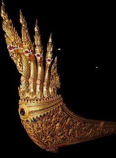 Royal Barge Anantanakkharat. Thailand. Royal Barge National Museum. Bangkok.