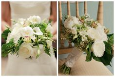 White Green Wedding Bouquet