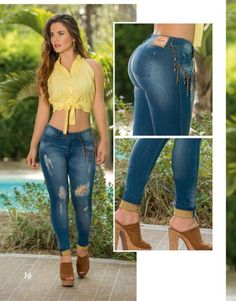 Yakaré All New Very Cool is part of Sexy jeans - Jeans Denim, Sexy Jeans, Ripped Jeans, Skinny Jeans, Jeans Pants, Girl Fashion, Fashion Dresses, Womens Fashion, Jeans Fashion