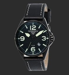 Swiss quartz 3 hand calendar movement Screw down stainless steel back Solid high grade stainless steel case Solid links high grade stainless steel bracelet or Italian leather strap Mineral crystal Italian leather strap Genuine Carbon Fiber Dial Water Resistant for 10 ATM (300 feet). Non radioactive long lasting luminescence dial
