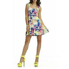 Nicki Minaj Women's Fit & Flare Dress - Geometric