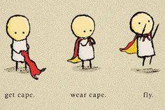 How to become a superhero.