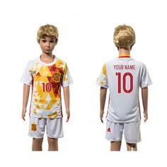 Spanien Trøje Børn 2016 #Fabregas 10 Udebanetrøje Kort ærmer.199,62KR.shirtshopservice@gmail.com