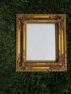 Decorative Arts Candid Vintage Aged Gesso Gilt Oak Picture Frame 16 By 20————— Antiques Quality First