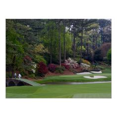 #Amen the Corner Augusta #Golf #Poster - Man Cave #card