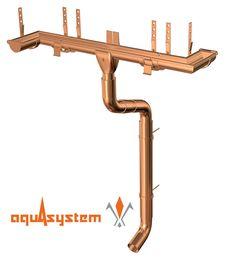 Водосточная система Aquasystem придаст вашей кровле законченный вид, не будет диссонировать с общим видом постройки, обеспечит отвод талой и дождевой воды с крыш зданий, а также надежно защитит стены, фундамент, цоколь и тротуары от разрушительного воздействия влаги.  Водосточная система AQUASYSTEM производится двух типоразмеров – малая система 90/125, большая 100/150, где 90 и 100 – диаметры труб, а 125 и 150 – диаметры желобов. Мы производим водосток с круглым или прямоугольным сечением…