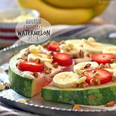 CONTEST ENTRY! In case you missed it, Banana Cheesecake Watermelon Pizza. We <3  @chiquitaBrands ! http://www.thecookierookie.com/banana-cheesecake-watermelon-pizza/… #recipe #foodporn
