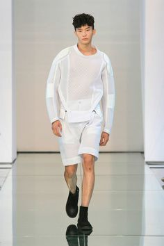 Transparency is one of those looks that only works in special circumstances. This shirt with a collar shirt or something underneath could be pretty wearable. Works on the runway though!