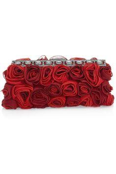 Valentino | Silk-georgette rosette clutch | NET-A-PORTER.COM...stunning