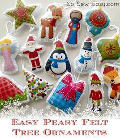 Easiest ever felt tree ornaments
