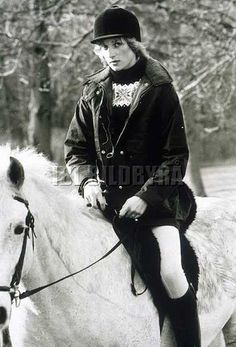 January 27, 1983: Princess Diana riding at Sandringham.