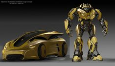 Transformers News: ILM Post Case Study of Bumblebee Movie and Bumblebee Statue Lands At Pier San Francisco Bumblebee Transformers, Transformers Autobots, Transformers Characters, Transformers Prime, Optimus Prime, Foto Top, Arc Reactor, Arte Robot, Concept Art