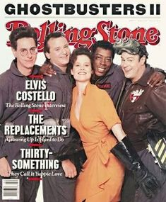 Ghostbusters on the cover of Rolling Stone magazine Ghostbusters Logo, The Real Ghostbusters, Original Ghostbusters, Rolling Stone Magazine Cover, Ernie Hudson, Elvis Costello, Aliens Movie, Skottie Young, Robert Mcginnis