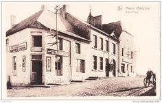 """MACON (Belgique) - Grand'Place - avec sur l'angle des rues """" Café du Tilleul"""""""