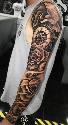 We want to share beautiful sleeve tattoos like this amazing piece to inspirate you. We did not draw this tattoo. # Sleeve Tattoos For Guys Sleeve Tattoo Idea Ocean Sleeve Tattoos, Cool Half Sleeve Tattoos, Forearm Sleeve Tattoos, Sleeve Tattoos For Women, Tattoo Sleeve Designs, Tattoo Designs Men, Sleeve Tattoo Guys, Female Tattoo Sleeve, Butterfly Sleeve Tattoo
