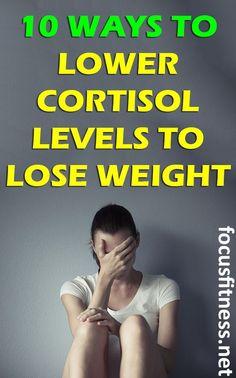 11 Easy Ways to Lower Cortisol Levels to Lose Weight - Balance Hormones Naturally - Gewicht Verlieren Best Weight Loss Plan, Diet Plans To Lose Weight, Weight Loss Goals, Weight Gain, How To Lose Weight Fast, Weight Control, Loose Weight, How To Lower Cortisol, Lower Cortisol Levels
