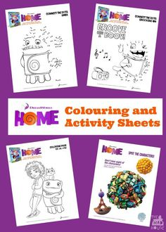 Dreamworks Home colouring and activity sheets.  Over 10 free printable colouring and activity sheets for Dreamworks Home movie