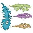 Spellbinders Shapeabilities Peacock Feathers S4-429 FREE SHIPPING