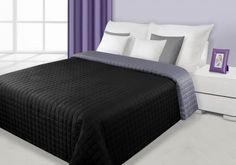 Čierno-sivý prehoz Eva je dostupný v 4 rozmeroch: 70x150, 170x210, 220x240 alebo 230x260 cm. Sweet Home, Bed, Furniture, Design, Home Decor, Home, Decoration Home, House Beautiful, Stream Bed
