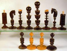 Biedermeier chess pieces