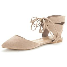 DREAM PAIRS AMIGA Women's Pointy Toe Ankle Cuff Lace Up D'orsay Ballet Comfort Gladiator Flats Shoes *** Find out more details @ http://www.amazon.com/gp/product/B01E1QO2D4/?tag=passion4fashion003e-20&wx=020816070934