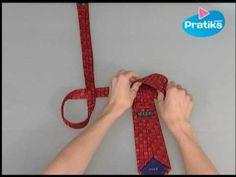 Cómo hatar una corbata en menos de 10 segundos - YouTube