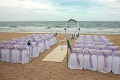 lavender beach wedding...only the chairs