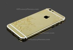 This IPhone 6 Plus gold designer housing comes with beautiful flowery patterns on its back. It is truly magnificent and will make your Apple device look very fresh. Iphone 6s Gold, New Iphone, Iphone 6 Covers, Cover Model, 6s Plus, Luxury, Cases, Accessories, Design