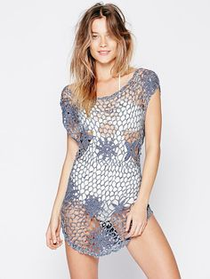 Outstanding Crochet: Open Stitch Beach Tunic from Free People.
