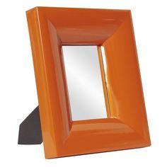 "Howard Elliott Candy Orange Table Top Mirror 10"" x 12"" x 2"""