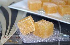 PATE DE FRUITS A L'ORANGE (180 g de chair d'oranges, 220 g de sucre, 1 sachet de Alsa vitpris)