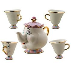 From the Golden Age of Animation at Disney: Beauty & the Beast Mrs. Potts & Chip Tea set!